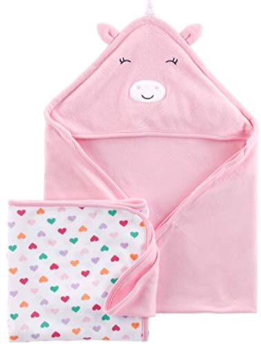 Child of Mine by Carter's Baby Girl 2-Piece Bath Towel Set