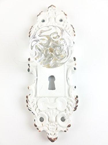 Tripar Decorative Pewter Wall Hook, Vintage Door Knob Style (Cream/White), 1 Piece ()