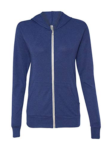 Canvas C3939 Unisex Triblend Full-Zip Lightweight Hoodie - Navy TriBlend, Medium by Bella
