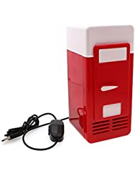 Refrigerator Freezer Cola Drink Cooler&warmer for Car USB Mini Red