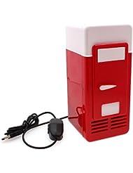 Refrigerator Freezer Cola Drink Cooler&warmer for Car USB Mini Red