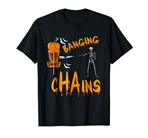Halloween Funny Disc Golf Frolf Tshirt Skeleton Costume tee]()