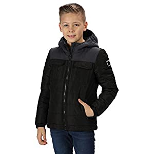 Regatta Kid's 'Pasco' Insulated Reflective Jacket Baffled/quilted