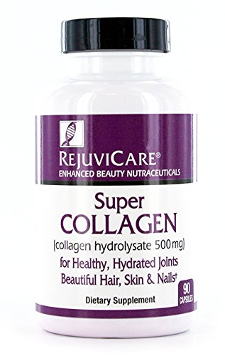 Rejuvicare Super Collagen Capsules for Beauty, Healthy Joints, Hair, Skin, Nails, 90 Servings