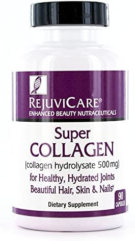Rejuvicare Super Collagen Capsules for Beauty, Healthy Joints, Hair, Skin, & Nails, 90 Servings