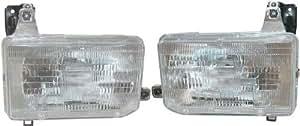 1988-1989 Nissan D21 Hardbody Pickup Truck & 1987-1995 Pathfinder Headlight Headlamp Head Light Lamp Pair Set: Right Passenger AND Left Driver Side (1987 87 1988 88 1989 89 1990 90 1991 91 1992 92 1993 93 1994 94 1995 95)