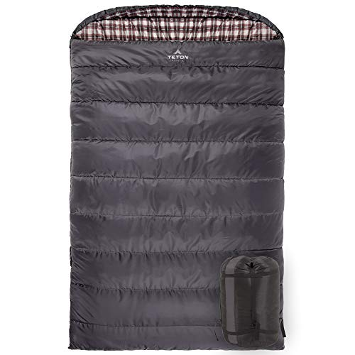 TETON SPORTS Fahrenheit Mammoth 0F Queen Size Sleeping Bag; Warm and Comfortable; Double Sleeping Bag Great for Family Camping; Compression Sack Included