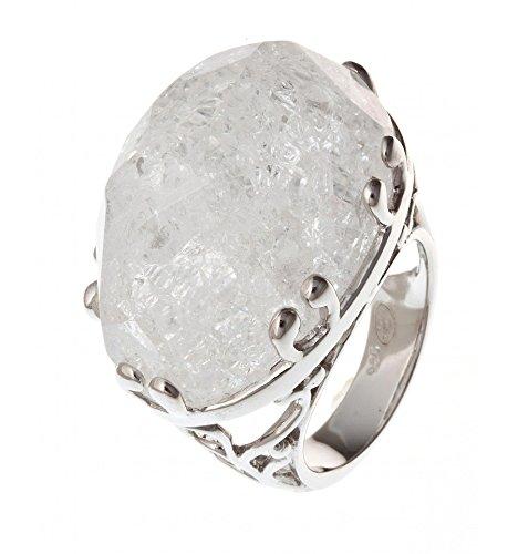 Fant'zi - Bague argent rhodié quartz cristal
