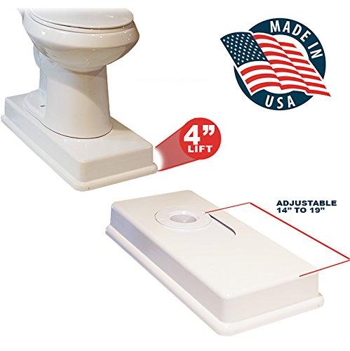 (19″ Medway Complete Easy Toilet Riser Kit)