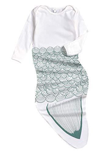 Newborn Cotton Gowns Baby Sleep Bag Pajamas Long Sleeves Mermaid Tail Baby Wearable Blanket Infant Sleepers Sleepwear (Mermaid, 0-6 Months)