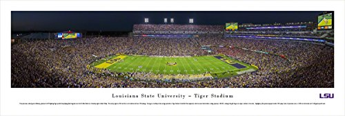 Louisiana State University Football at Tiger Stadium - Blakeway Panoramas Print (State University Tigers Football)