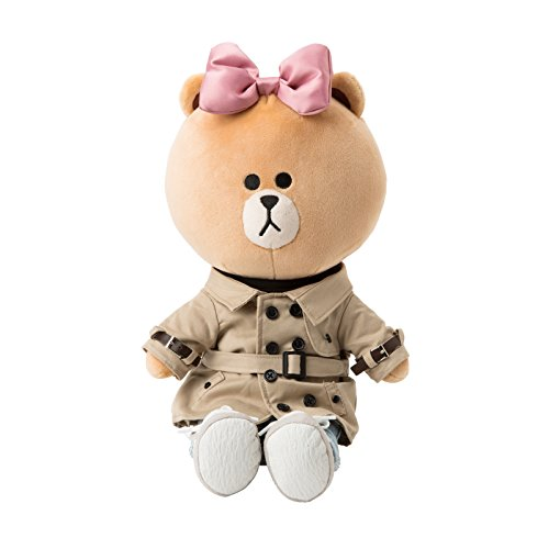 LINE FRIENDS Trench Coat Choco - Costume Plush Doll Season 1 One Size Light Brown