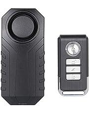 Lancoon Fietsalarm, diefstalbeveiliging voor motorvoertuigen met afstandsbediening, 113 dB Super Loud (1 stuks)