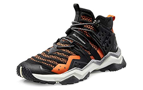 RAX Men's Lightweight Hiking Shoes Camping Backpacking Shoes Outdoor Sneakers Black