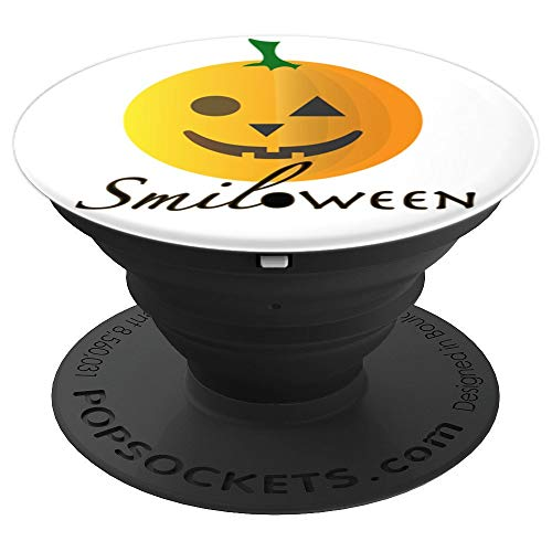 Smile and halloween Face / SMILOWEEN - PopSockets Grip and Stand for Phones and Tablets -