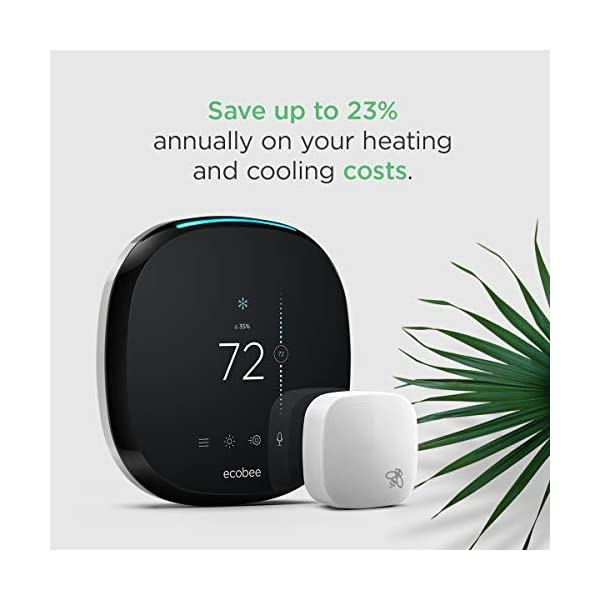 ecobee4 Smart Thermostat with Built-In Alexa, Room Sensor Included 2