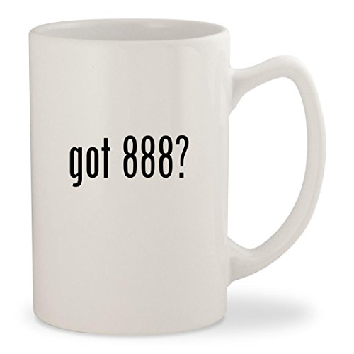 got 888? - White 14oz Ceramic Statesman Coffee Mug Cup