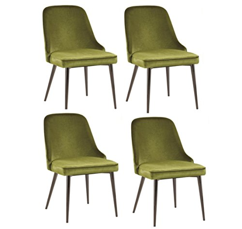 Amazon Com Riverbank Upholstered Dining Chairs With Tapering Legs
