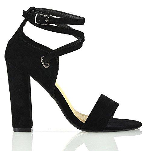 Sandali Tacco Elegante Le Alto ESSEX Donna alla GLAM Met Signore Cinturino Caviglia UEY8E