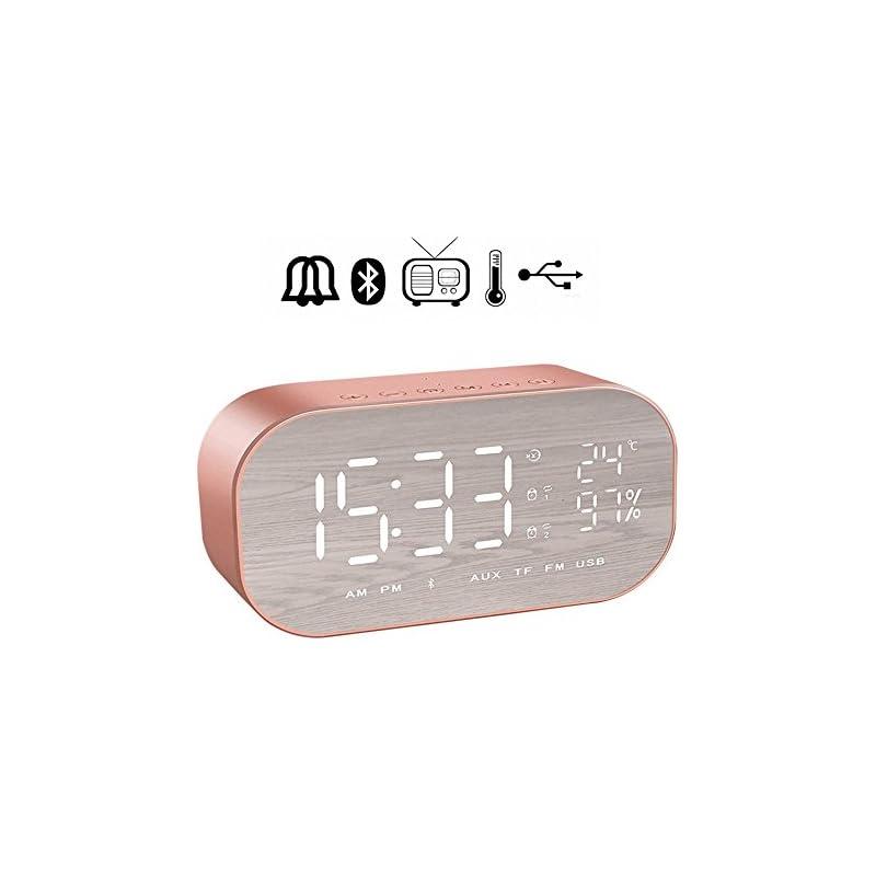 Digital Alarm Clock Radio, LFHouzze Wirl