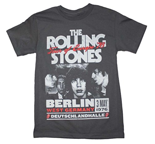 - Rolling Stones Berlin Tour of Europe '76 Adult T-Shirt XL Black