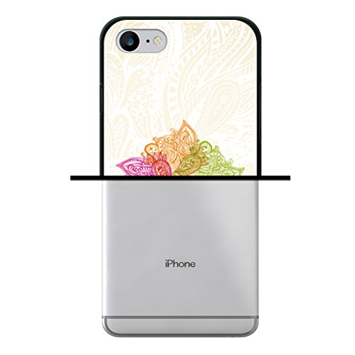 iPhone 8 Hülle, WoowCase Handyhülle Silikon für [ iPhone 8 ] Bunte Mandala Handytasche Handy Cover Case Schutzhülle Flexible TPU - Schwarz