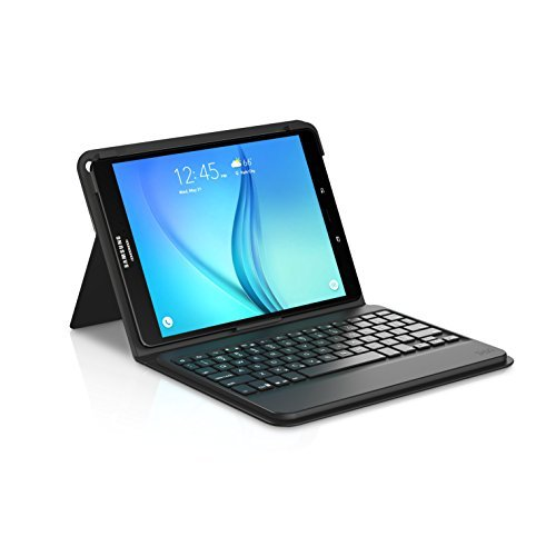 - ZAGG Messenger Folio Case and Bluetooth Keyboard for Samsung Galaxy Tab 8.0 - Black