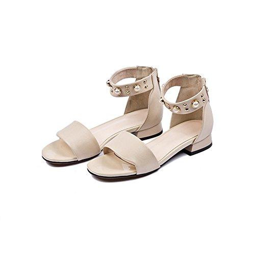 名詞不機嫌そうな物足りないXIAOLIN 粗い靴で高品質の女性の夏のローヒールサンダル (色 : 白, サイズ さいず : EU36/UK3.5/CN35)