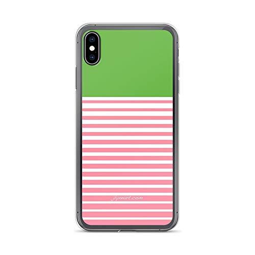 iPhone Xs Max Pure Clear Case Cases Cover Alpha Kappa Alpha Stripes (Alpha Stripe)