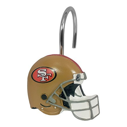 San Curtain 49ers Francisco Shower - Northwest NFL 942 49ers Shower Curtain Rings San Francisco Decorative Bath Collection-12pc Hooks