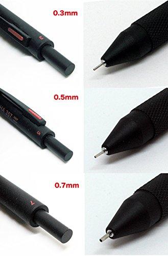 57 POWERS MECHA 357 Multi Mechanical Pencil 3in1 0.3mm 0.5mm 0.7mm Japan (BLACK) by HMP (Image #5)