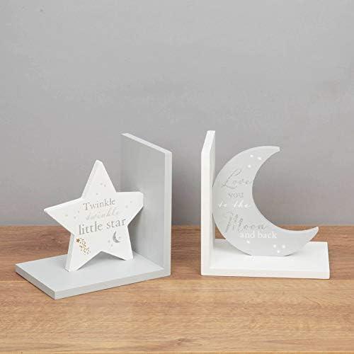 Bambino Buchstützen Twinkle - Mond und Sterne - Holzbuchstützen