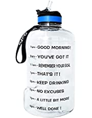 BuildLife Gallon Motivational Water Bottle with Time Marked to Drink More Daily,BPA Free Reusable Gym Sports Outdoor Large(128OZ/73OZ/43OZ) Capacity