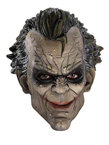 Batman Arkham City Three-Fourth Vinyl Joker Mask, White/Green, One Size ()
