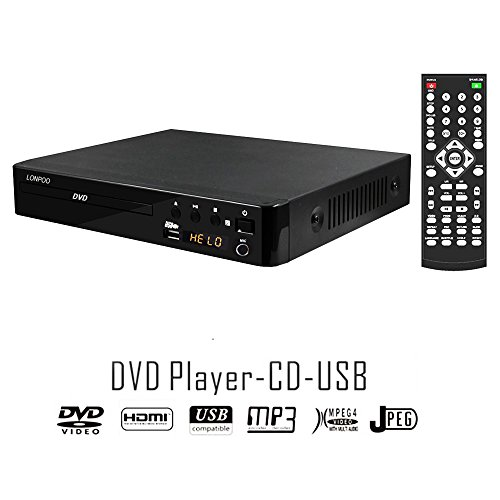 LP-099A Multi All Region Code Zone Free PAL/NTSC HD DVD Player CD Player with Remote & USB - Compact Design by LP