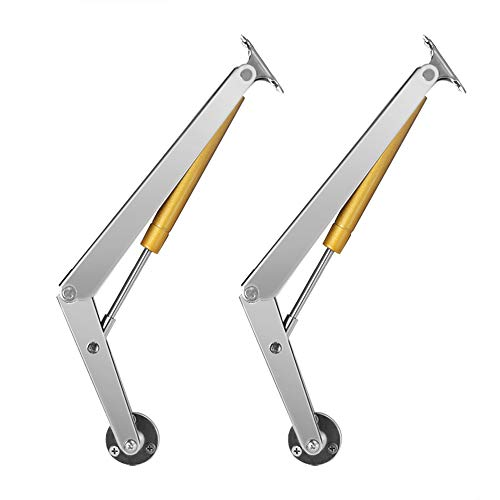 - Alamic Gas Springs Lid Support Hinge 200N 44lb Heavy Duty Pneumatic Lid Lifters with Soft Close Support Heavy Drop Lids - 2 Pack