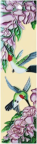 Natural Hummingbird_Right - Decorative Ceramic Art Tile - House Number - 2