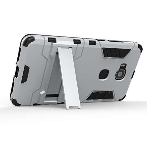 Huawei Ascend G7 Plus Funda, TOTOOSE para Huawei Ascend G7 Plus Lightweight Alto impacto Shockproof Doble Capa 2 in 1 Rugged Cuerpo Combinado Híbrido Armadura Defender Protector Completo del Cuerpo Cu Azul celeste