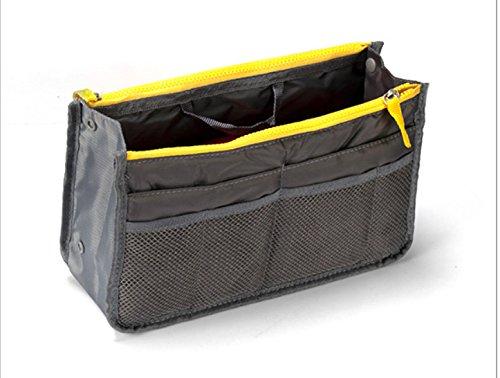 HOYOFO Waterproof Travel Cosmetic Bag Handbag Bathroom Organizer Accessories Tote,Grey