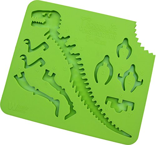 ChocolateConstruction: T-Rex - 3D Chocolate Candy Dinosaur Building Mold Mould