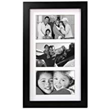 Malden 8071-346 4x6-Inch Linear Wood Matted Collage Picture Frame (Black)