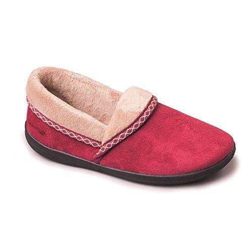 Mujeres Zapatillas Cuerno Anchura Zapato Libre De 20mm Talón Cereza G Padders 'suave' OAxTHdww