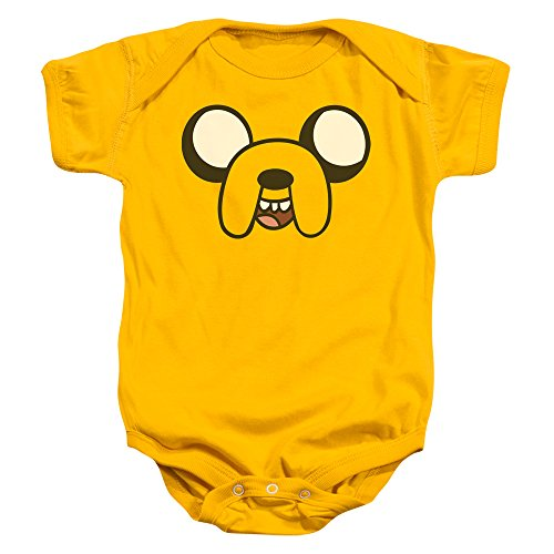 Adventure Time Baby Boys' Jake Head Bodysuit 0 - 6 Months Gold]()