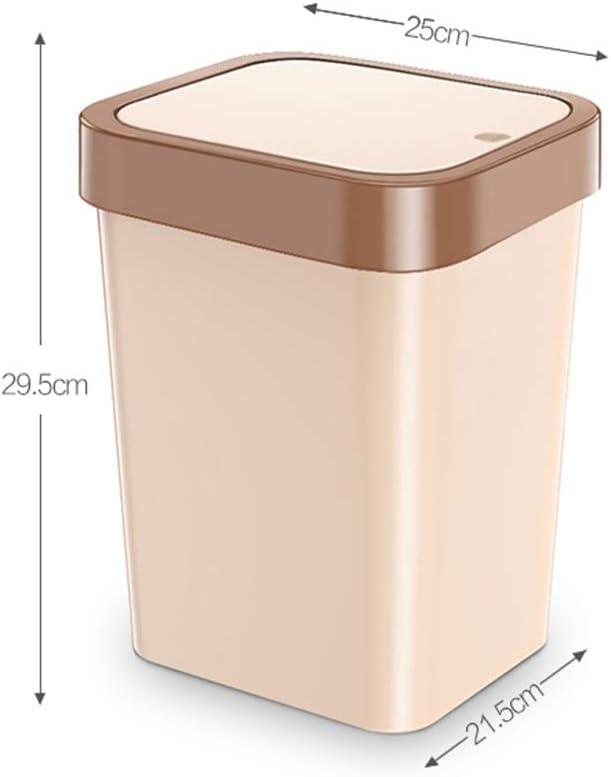 NYKK Cubos de Basura para Exterior Manual de residuos de la Basura de la Tapa de la Primavera con Tapa Sello r/ápido 11L Papelera Bolsa de Basura Disponible Basurero Reciclaje marr/ón