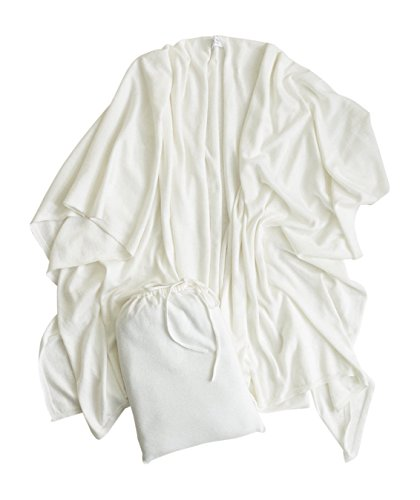 Mer Sea Cotton Cashmere Travel Wrap (White) by Mersea (Image #1)