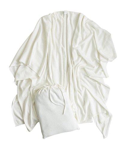 Mer Sea Cotton Cashmere Travel Wrap (White) by Mersea