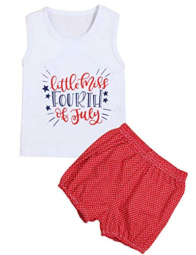 4th of July Baby Girl Outfit Sleeveless Top