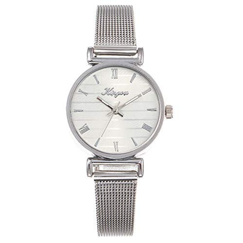 Mitiy Women Stainless Steel Mesh Belt Quartz Wrist Watch High Hardness Glass Mirror Bracelet Watches