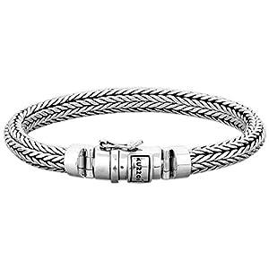 Kuzzoi Bracelet en argent sterling 925massif, Largeur 7mm, 335102, pour homme
