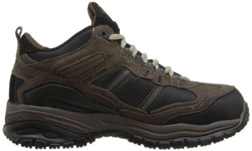 Skechers para el trabajo suave Stride 70727 Toldo antideslizante botas de trabajo Brown/Black